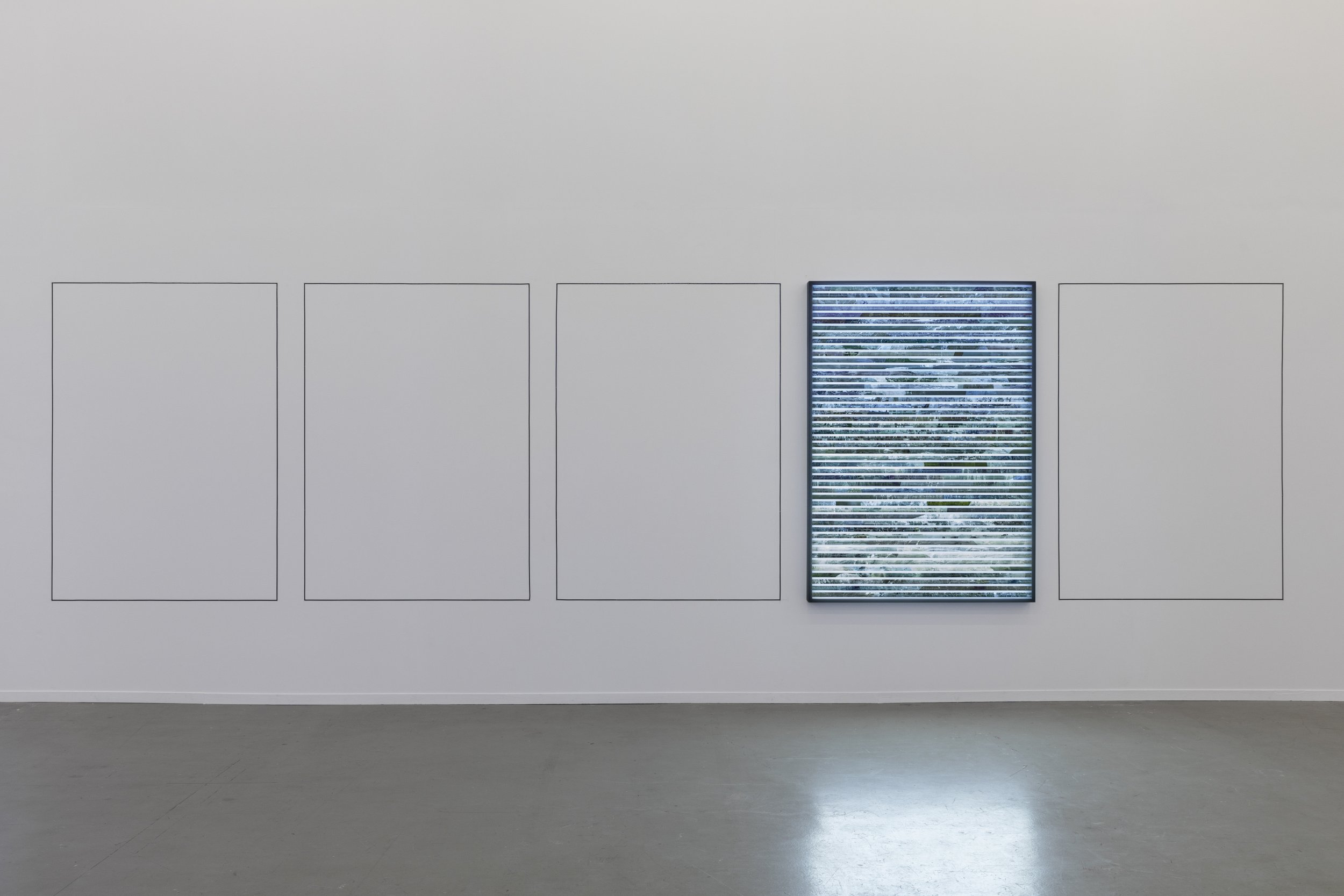 'One Present and Four Missing (Westbound 190621 (1.968-3936))' in 'Proof of Stake' at Kunstverein Hamburg
