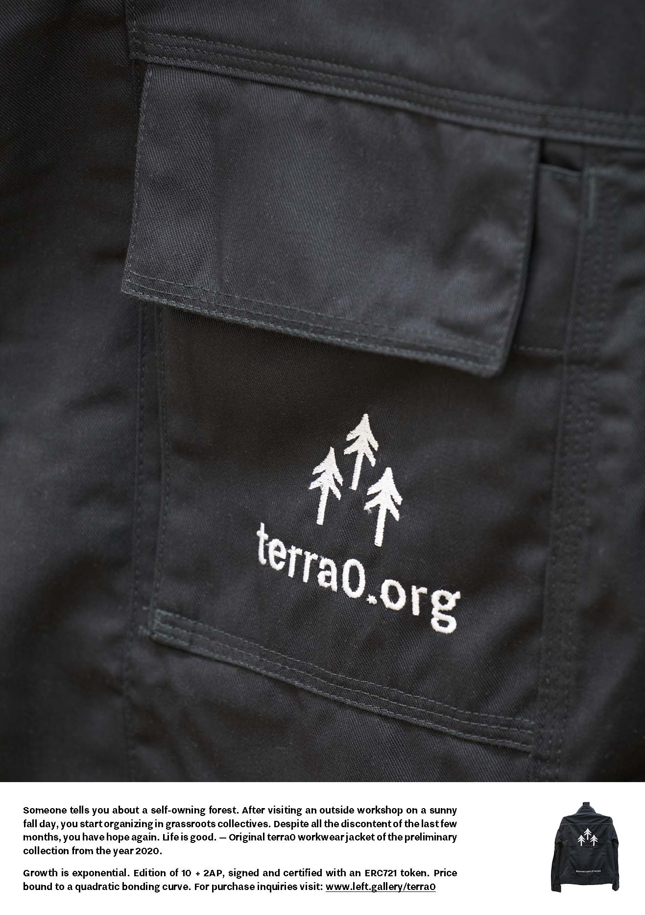 'terra0' ad for 'Arts of the Working Class x 2038'